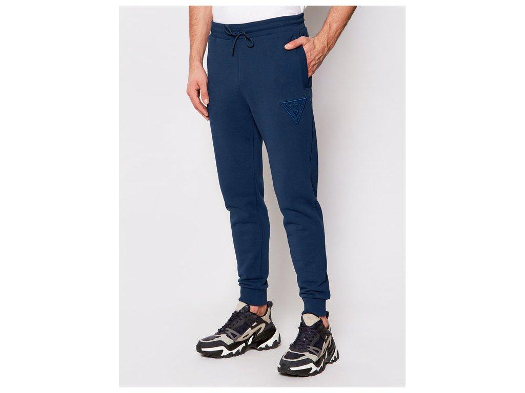 guess teplakove kalhoty u1ga10 k68i1 tmavomodra regular fit