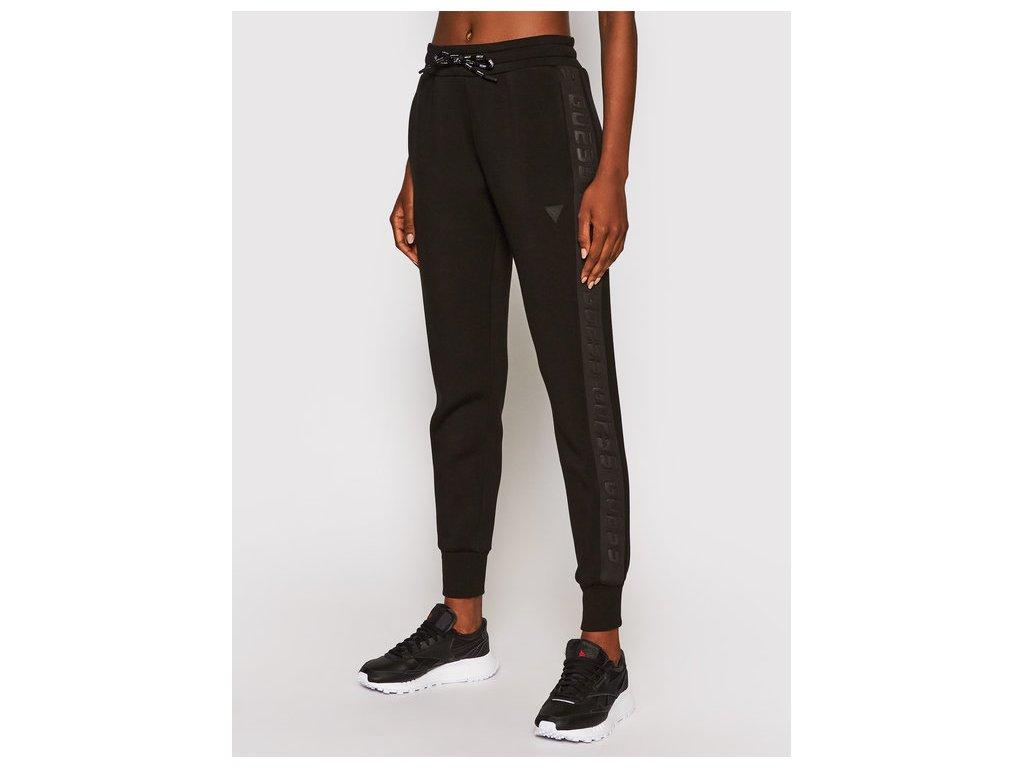 guess spodnie dresowe allie o1ga49 kamn2 czarny regular fit