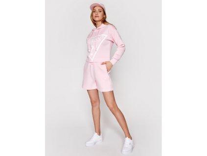 guess pantaloni scurti sport o1ga30 kamn2 roz comfort fit