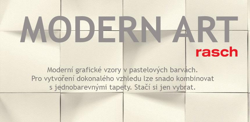 Nová kolekce tapet Modern Art, moderní pastelové vzory německého výrobce Rasch