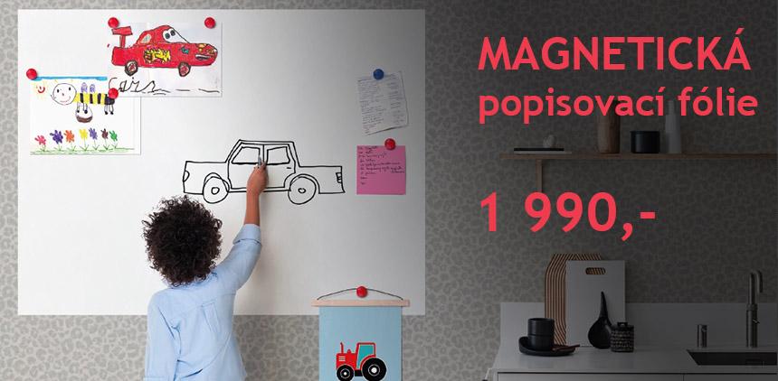 Magnetická popisovací fólie - samolepicí
