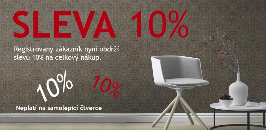 Sleva 10% pro registrovaný zákazníky
