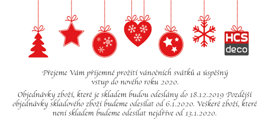 Vánoční přání, informace o doručení zboží před svátky
