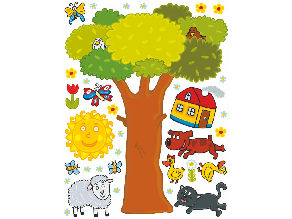 K1044 Samolepicí dekorace WALL STICKER TREE 65 x 85 cm