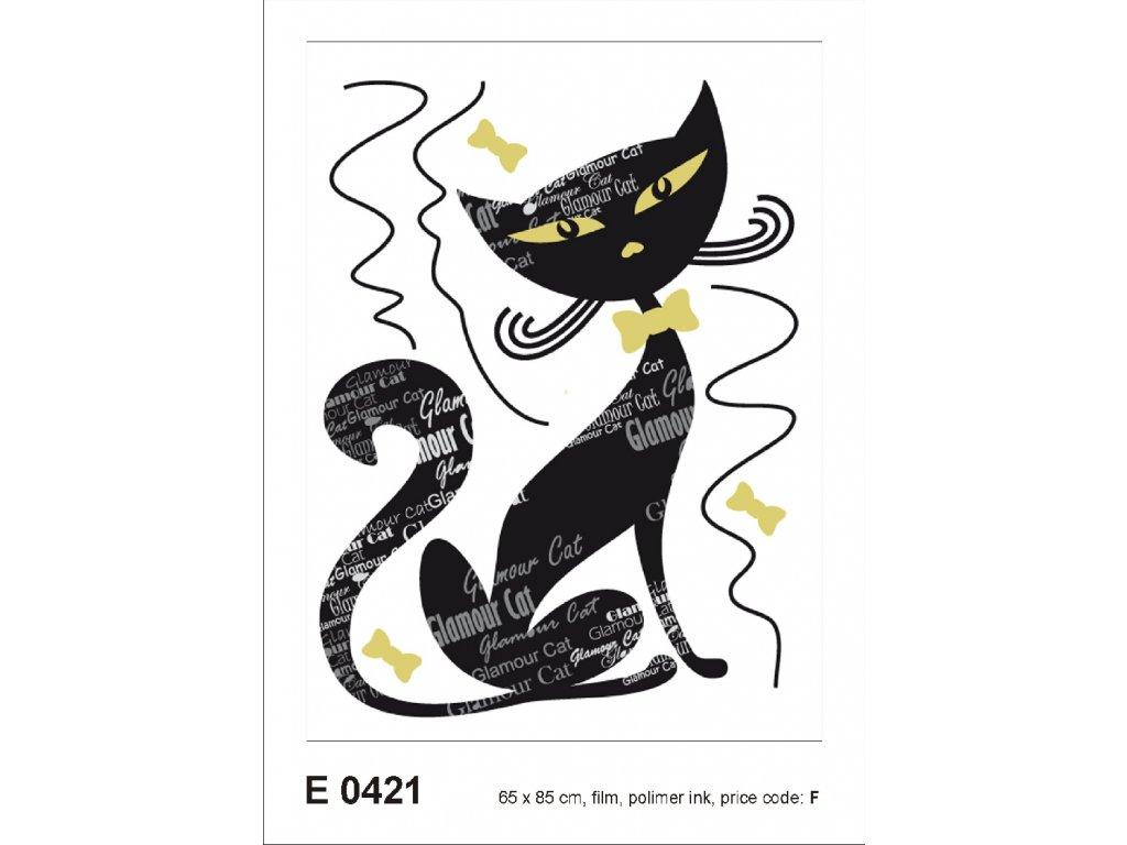 E0421 Samolepicí dekorace GLAMOUR CAT BOY 65 x 85 cm