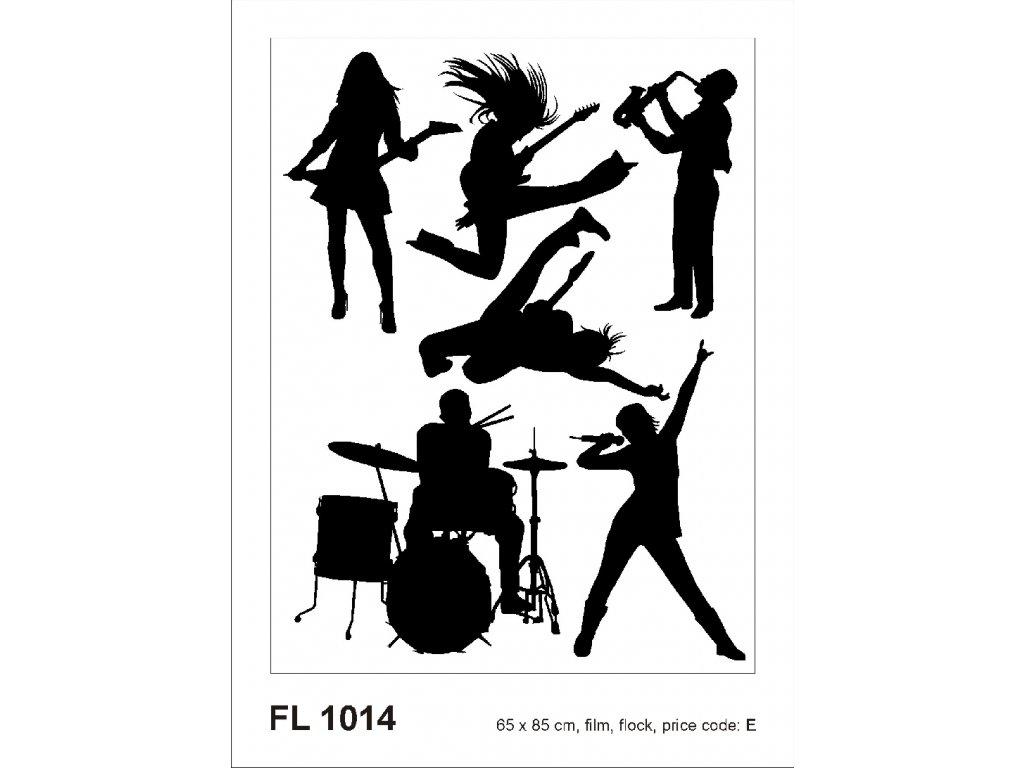 FL1014 Samolepicí velourová dekorace ROCK N ROLL FLOCK 65 x 85 cm