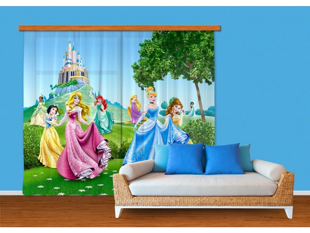 Textilní závěs PRINCESS FCSXXL7016, 280 x 245 cm (2 ks), lehké zastínění