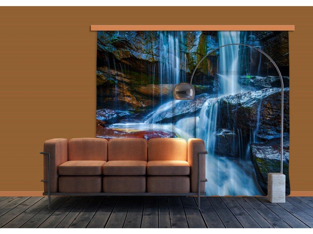 Textilní závěs WATERFALL BIG FCSXXL7400, 280 x 245 cm (2 ks), lehké zastínění