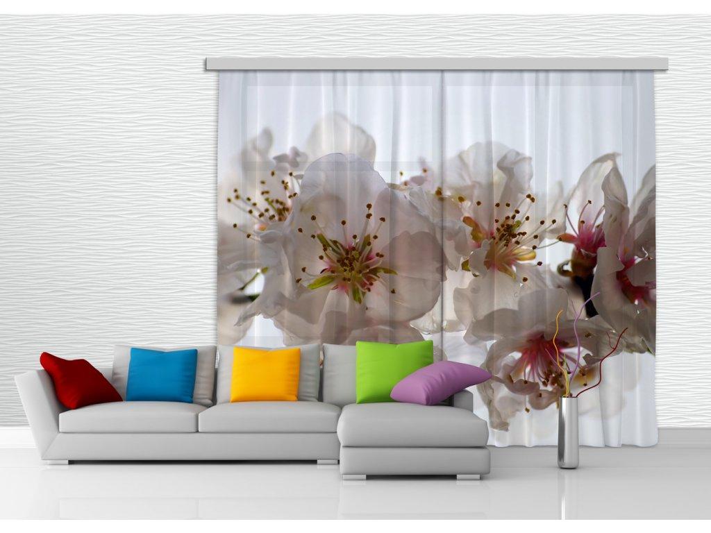 Textilní závěs FLOWERS FCSXXL7409, 280 x 245 cm (2 ks), lehké zastínění
