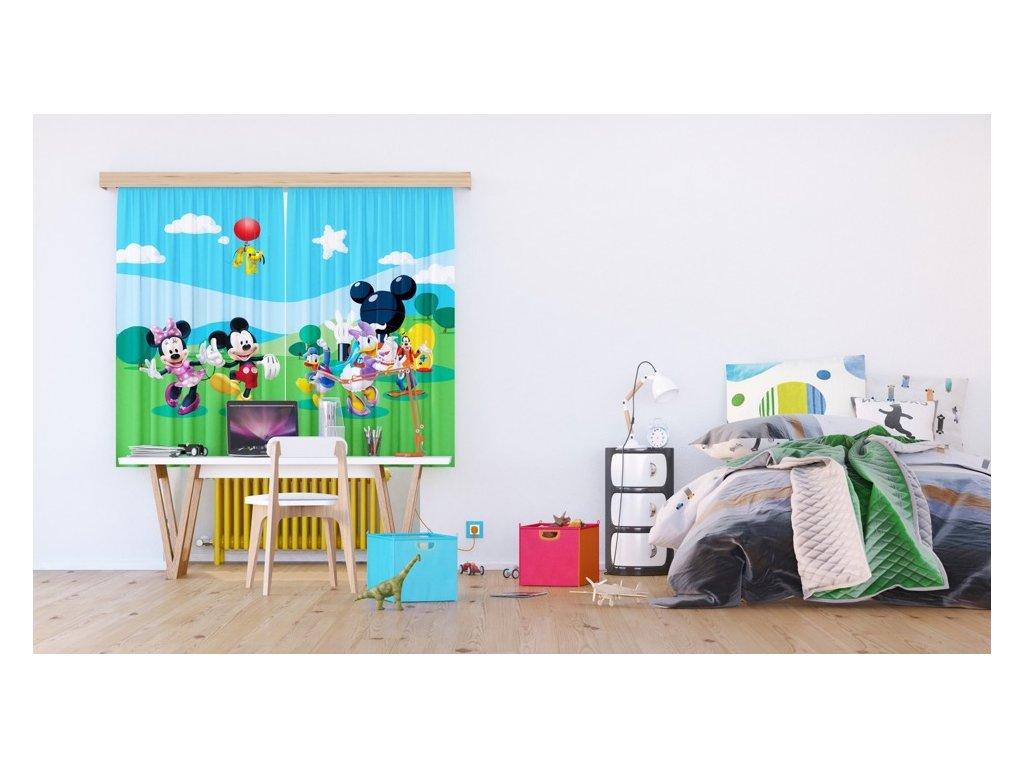 Textilní závěs MICKEY AND FRIENDS FCSXL4307, 180 x 160 cm (2 ks), lehké zastínění