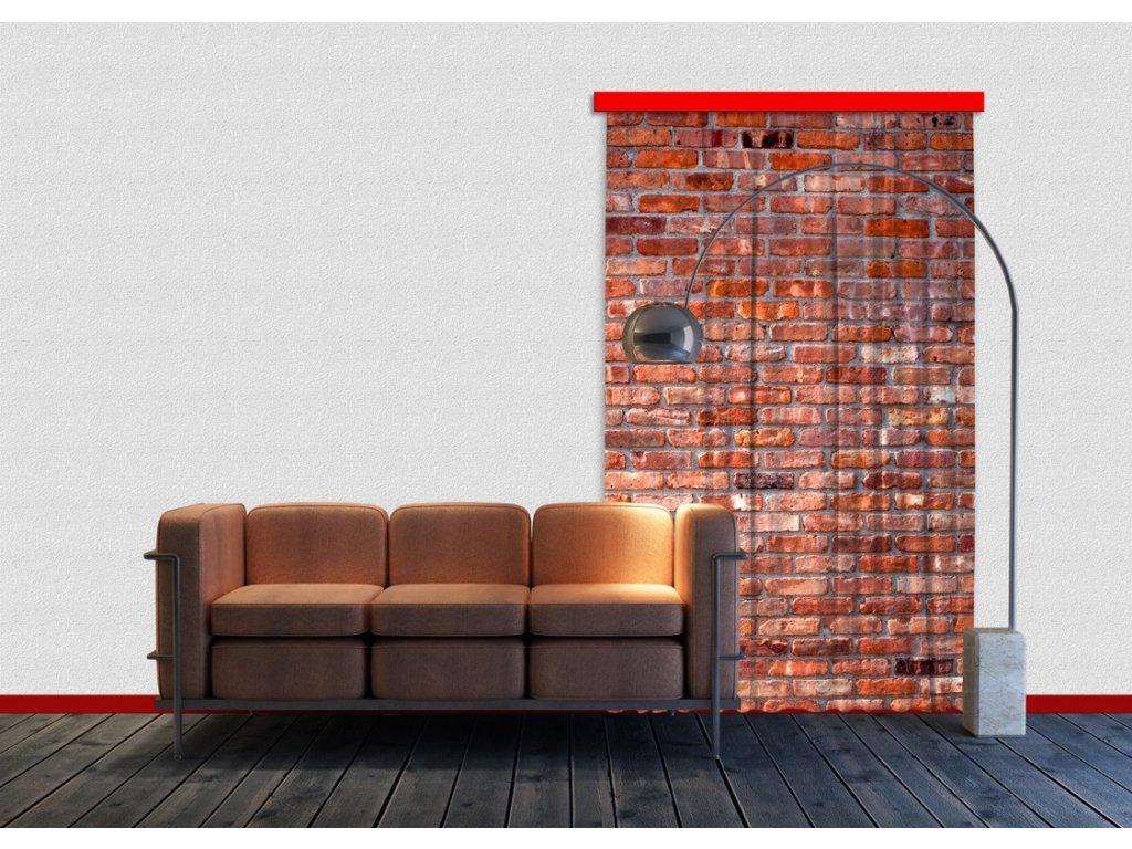 Textilní závěs RED BRICKS FCSL7501, 140 x 245 cm (1 ks), lehké zastínění