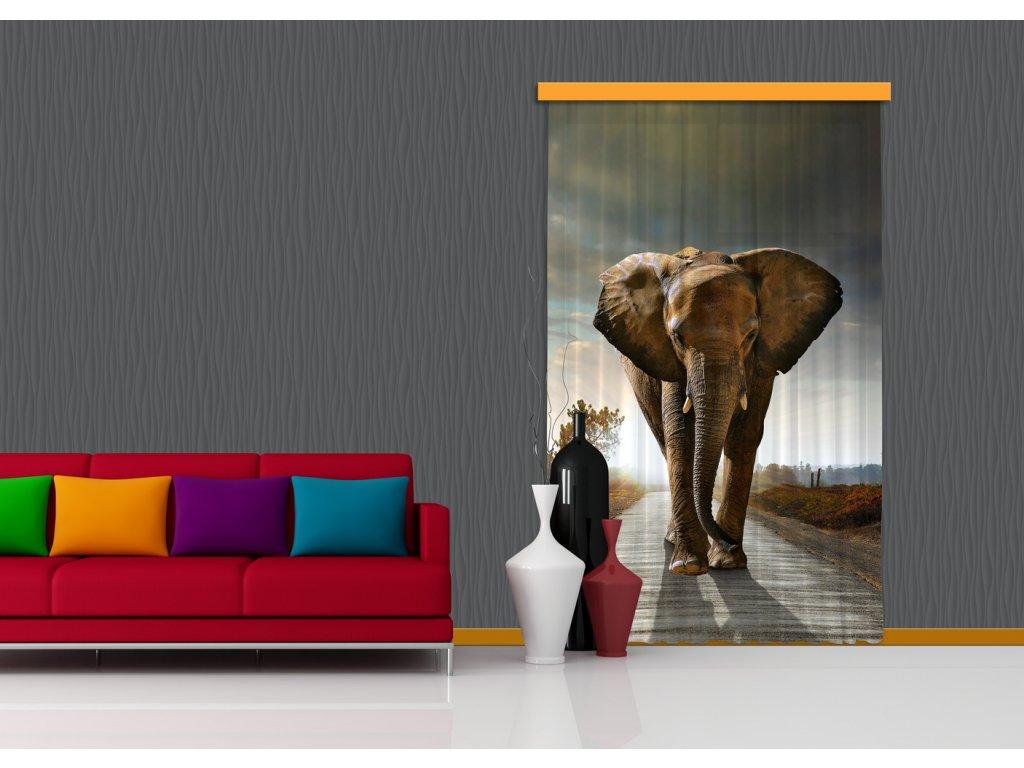 Textilní závěs ELEPHANT FCSL7507, 140 x 245 cm (1 ks), lehké zastínění