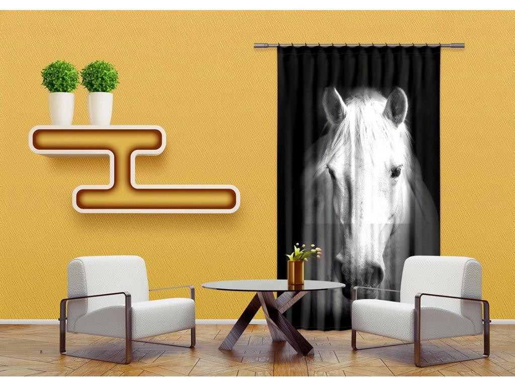 Textilní závěs HORSE FCSL7520, 140 x 245 cm (1 ks), lehké zastínění