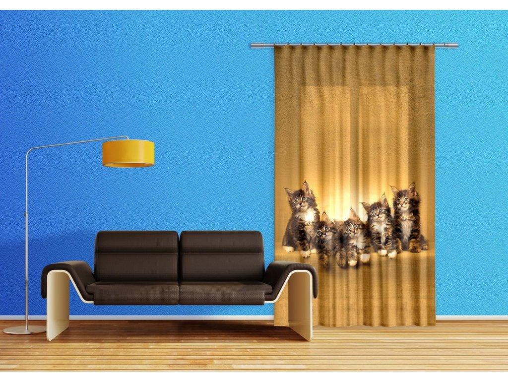 Textilní závěs CATS FCSL7521, 140 x 245 cm (1 ks), lehké zastínění