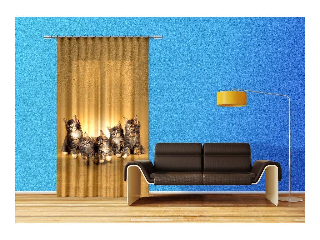 Textilní závěs CATS FCPL6521, 140 x 245 cm (1 ks), úplné zastínění