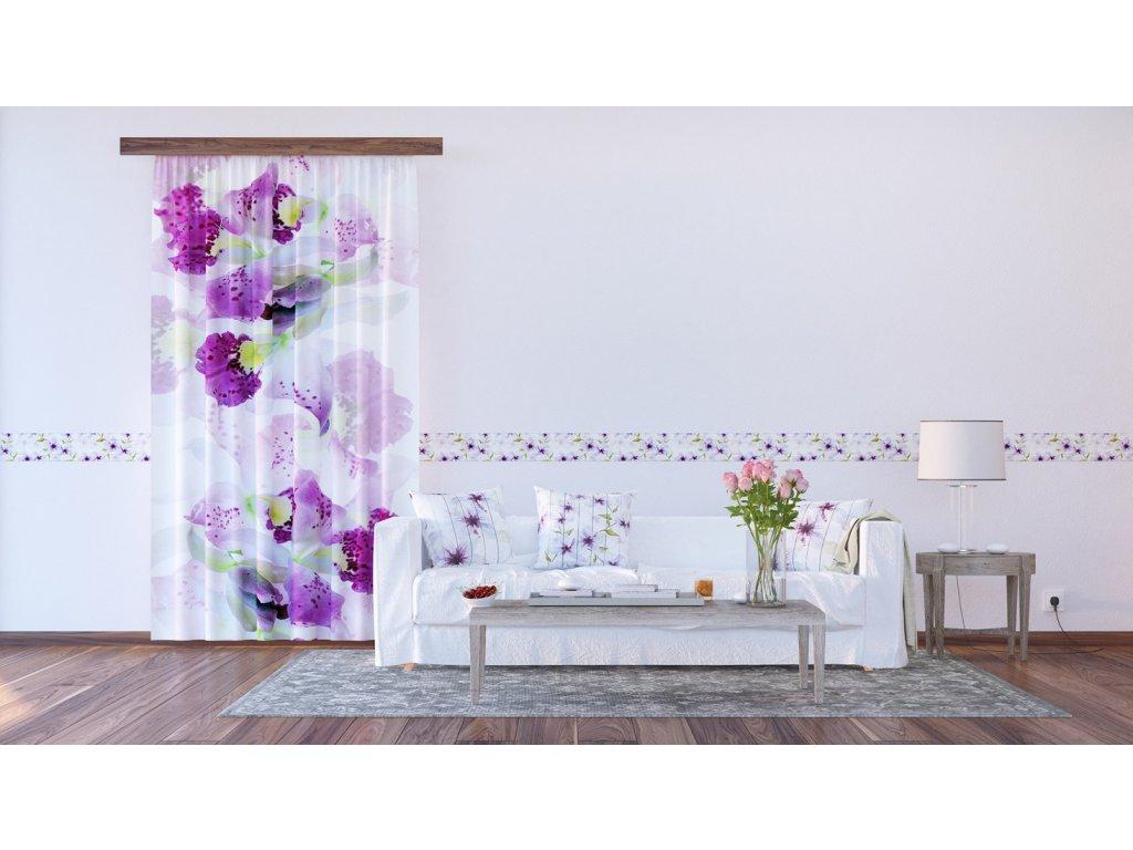 Textilní závěs FLOWERS FCPL6523, 140 x 245 cm (1 ks), úplné zastínění