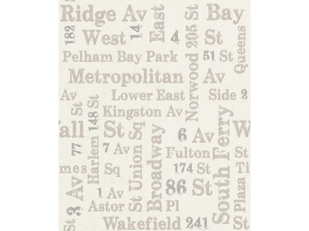 Vliesová/ vinylová tapeta na zeď Rasch 886719, kolekce Sightseeing, styl grafický, 0,53 x 10,05 m