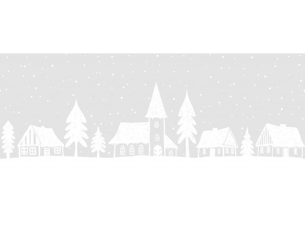 Dekorativní vánoční bordura (statická) domečky