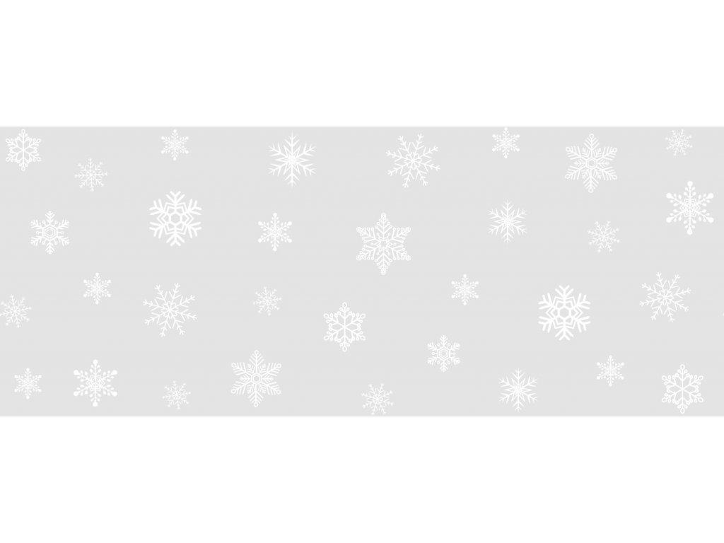 Dekorativní vánoční bordura (statická) vločky a hvězdy