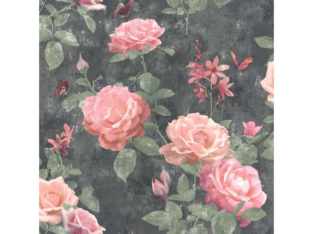 Papírová tapeta Rasch 215014, kolekce Sansa, 0,53 x 10,05 m