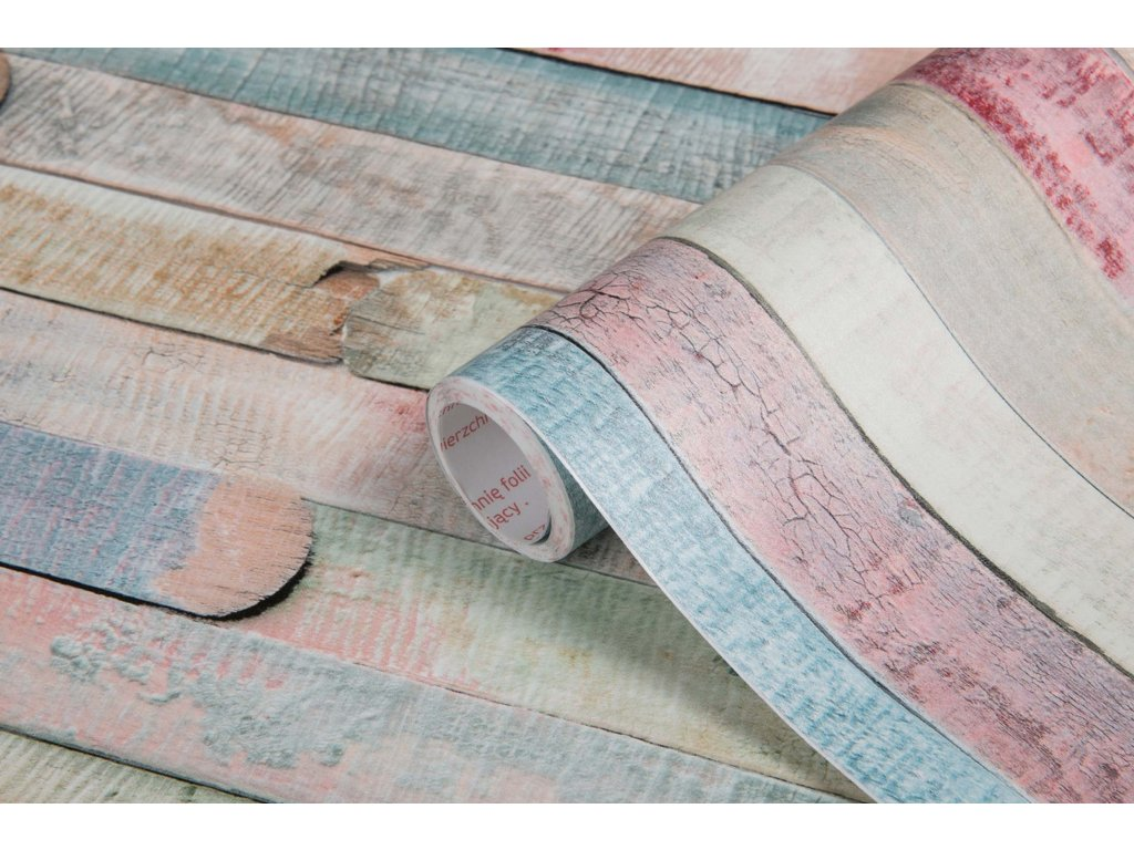 Samolepicí fólie d-c-fix barevná prkna tmavá 200-3196, ozdobné vzory šířka: 45 cm