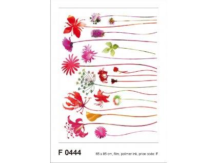 F0444 Samolepicí dekorace RED NOSTALGIE 65 x 85 cm
