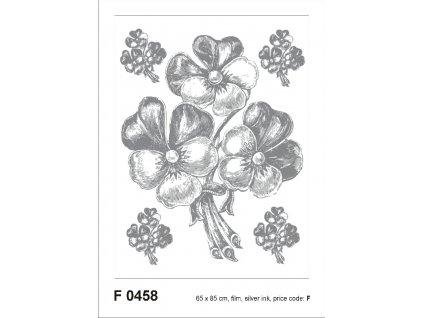 F0458 Samolepicí dekorace BUNCH SILVER 65 x 85 cm