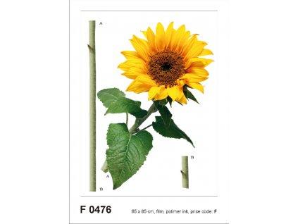 F0476 Samolepicí dekorace SUN FLOWER 65 x 85 cm