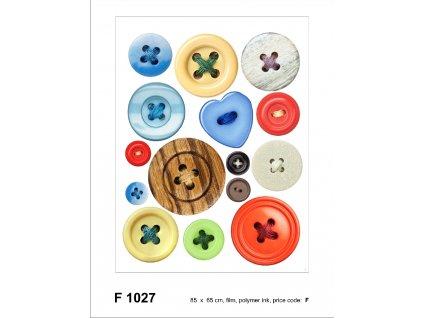 F1027 Samolepicí dekorace BUTTONS 65 x 85 cm