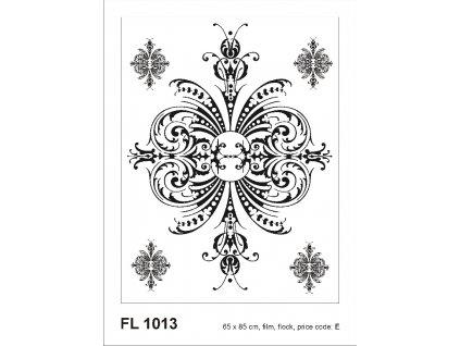 FL1013 Samolepicí velourová dekorace FLOCK ORNAMENT 65 x 85 cm