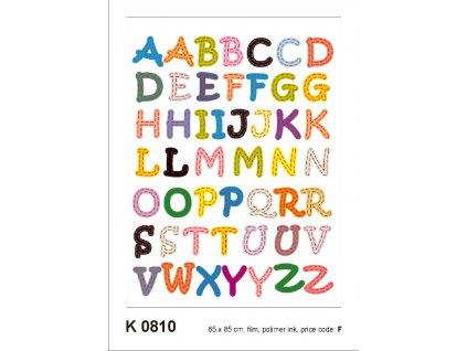 K0810 Samolepicí dekorace ALPHABET LIGHT  65 x 85 cm