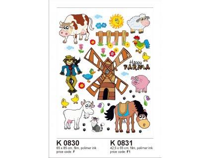 K0830 Samolepicí dekorace FARM BIG 65 x 85 cm