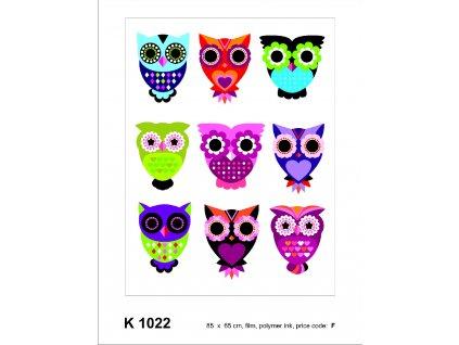 K1022 Samolepicí dekorace OWLS 65 x 85 cm