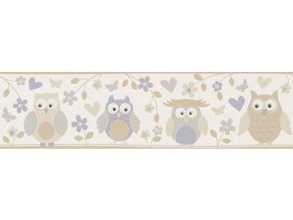 Vliesová bordura na zeď Rasch 459210, kolekce Kids & teens II, styl dětský, 0,53 x 10,05 m