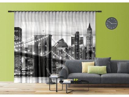 Textilní závěs BRIDGE FCSXXL7416, 280 x 245 cm (2 ks), lehké zastínění
