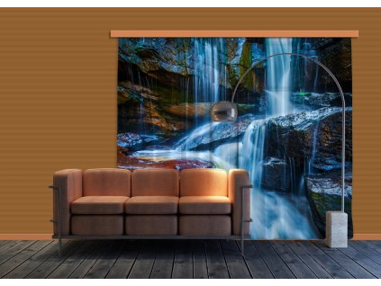 Textilní závěs WATERFALL BIG FCPXXL6400, 280 x 245 cm (2 ks), úplné zastínění