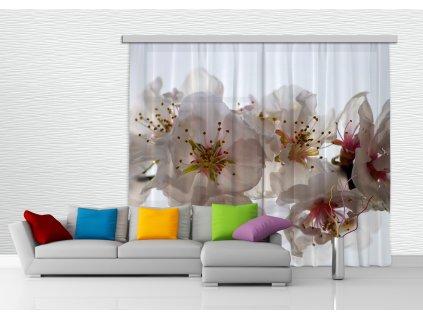 Textilní závěs FLOWERS FCPXXL6409, 280 x 245 cm (2 ks), úplné zastínění