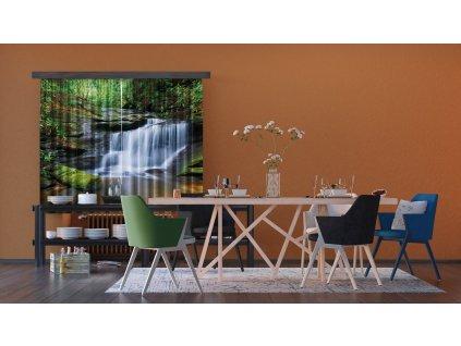 Textilní závěs WATERFALL FCSXL4800, 180 x 160 cm (2 ks), lehké zastínění
