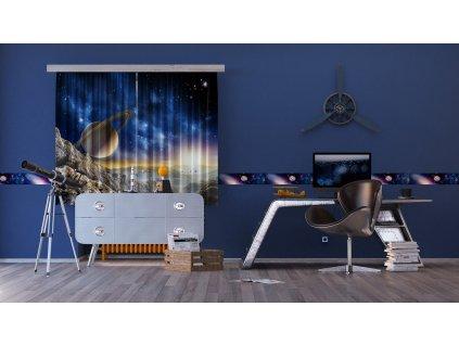 Textilní závěs COSMOS FCSXL4805, 180 x 160 cm (2 ks), lehké zastínění