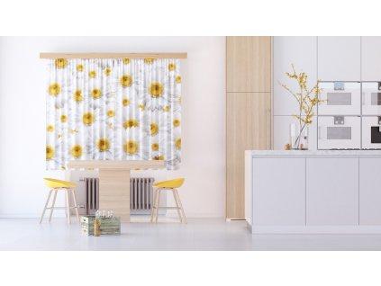 Textilní závěs FLOWERS FCSXL4810, 180 x 160 cm (2 ks), lehké zastínění