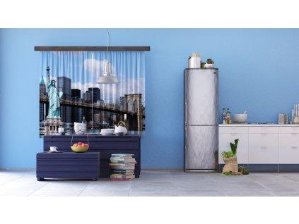Textilní závěs TOWN FCSXL4816, 180 x 160 cm (2 ks), lehké zastínění