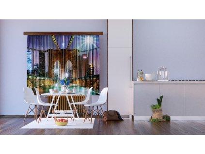 Textilní závěs BRIDGE FCSXL4817, 180 x 160 cm (2 ks), lehké zastínění