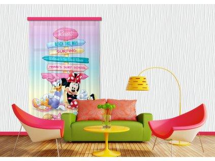 Textilní závěs MICKEY&PONNIE FCSL7107, 140 x 245 cm (1 ks), lehké zastínění