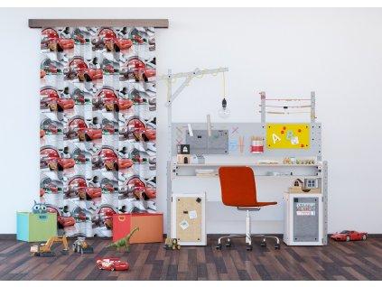 Textilní závěs CARS FCSL7134, 140 x 245 cm (1 ks), lehké zastínění
