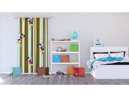 Textilní závěs MICKEY MOUSE FCSL7144, 140 x 245 cm (1 ks), lehké zastínění