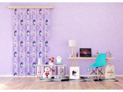 Textilní závěs FROZEN FCSL7149, 140 x 245 cm (1 ks), lehké zastínění