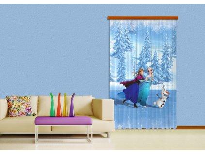 Textilní závěs FROZEN ON ICE FCPL6105, 140 x 245 cm (1 ks), úplné zastínění