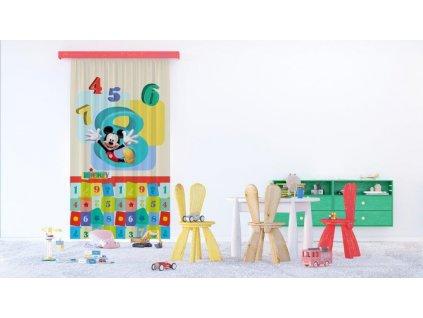 Textilní závěs MICKEY MOUSE FCPL6143, 140 x 245 cm (1 ks), úplné zastínění
