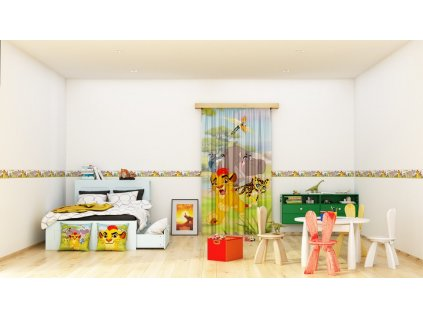 Textilní závěs LION GUARD FCPL6159, 140 x 245 cm (1 ks), úplné zastínění
