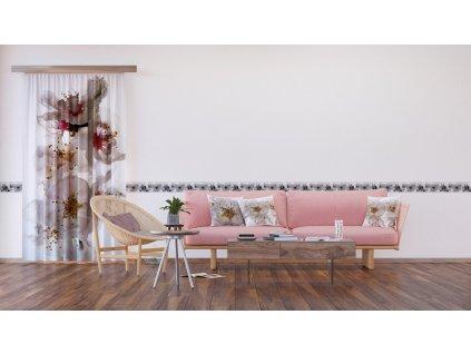 Textilní závěs FLOWERS FCSL7506, 140 x 245 cm (1 ks), lehké zastínění